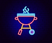 Neon BBQ sign © Getty Images